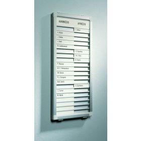 Professional aan- en afwezigheidsbord - 10 Namen